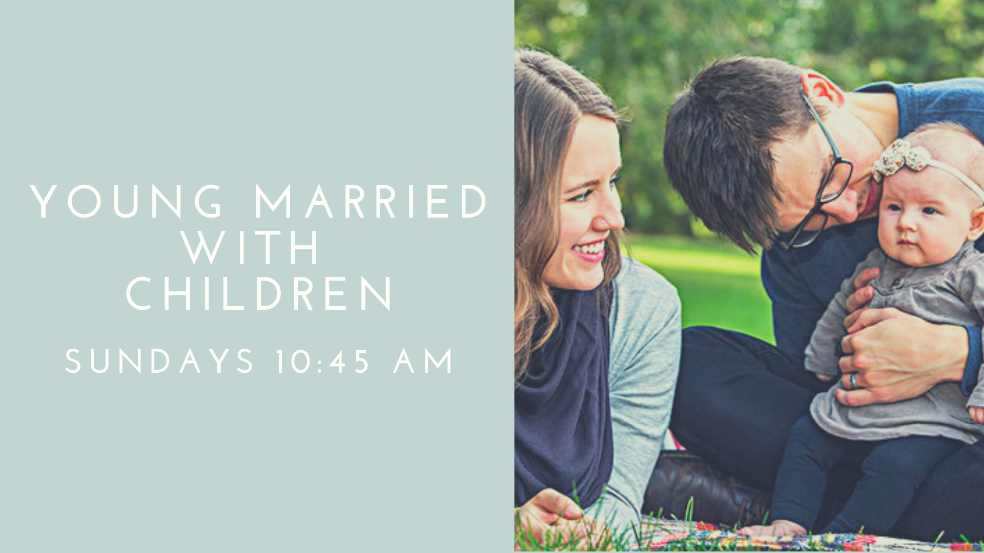 If you are a young parent or expectant parent, age 25-35, we invite you to fellowship and grow in God's Word with us Sunday morning at 10:45 am. Led by one of our elders Steven Grimes, we are currently going through the book of Colossians.