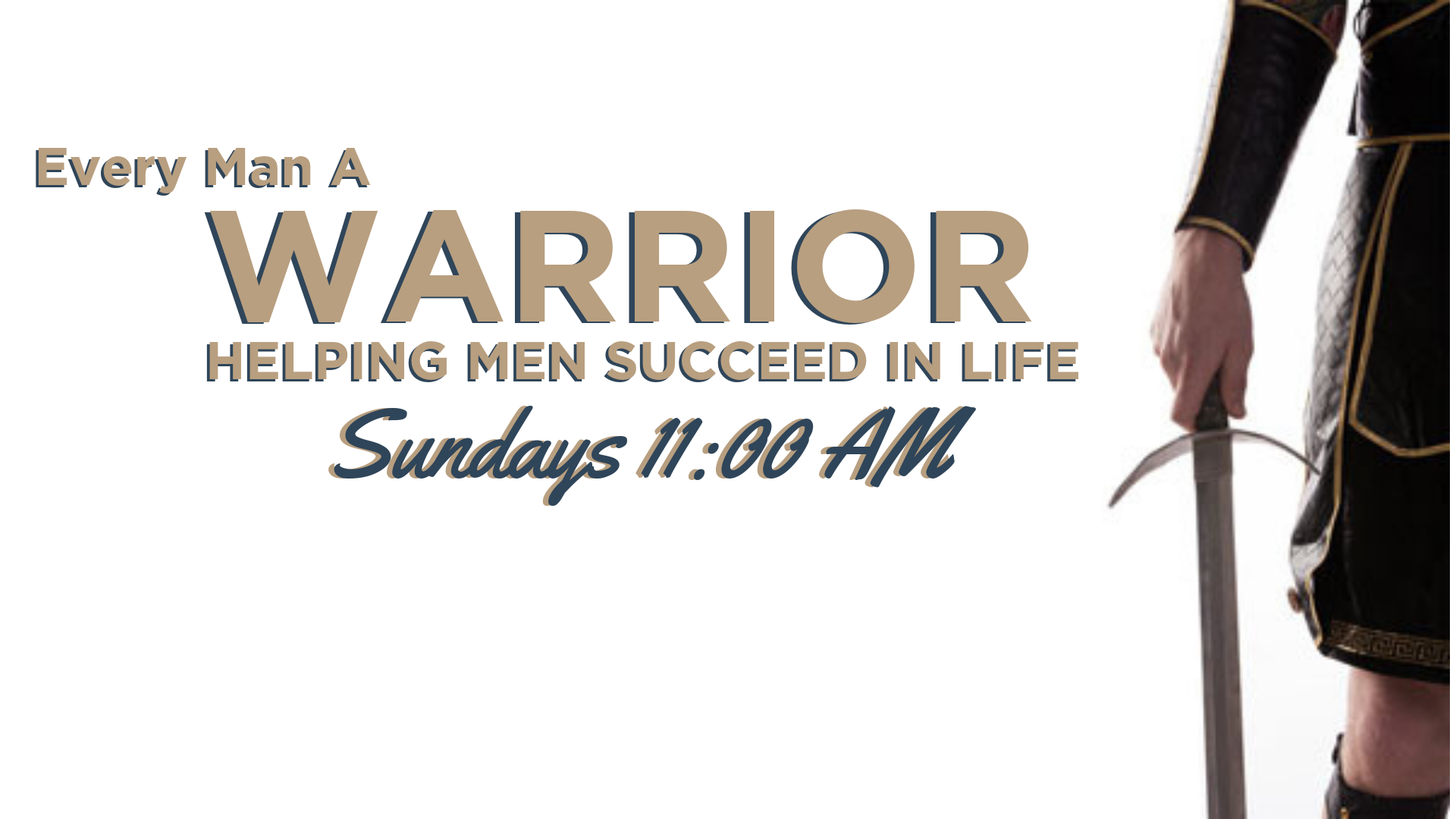 Join the men of Lifebridge Sundays at 11am as they begin a new study called Everyman A Warrior. The nine lessons of the first EVERY MAN A WARRIOR book will help you develop the essential skills of discipleship. These skills include: Having a Quiet Time, Meditating on Scripture, Prayer, and Application of the Word.