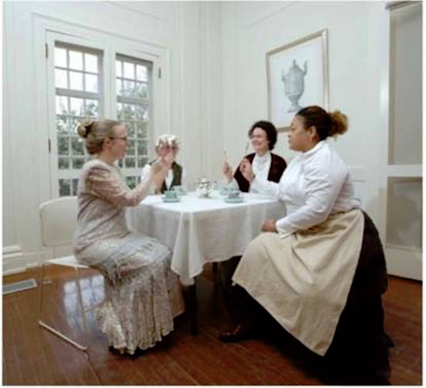women in the shadows - keeler tavern museum 2014 - l to r Marybeth Bass, Sue Seiffer, Paula Curry, Dawn Berenson