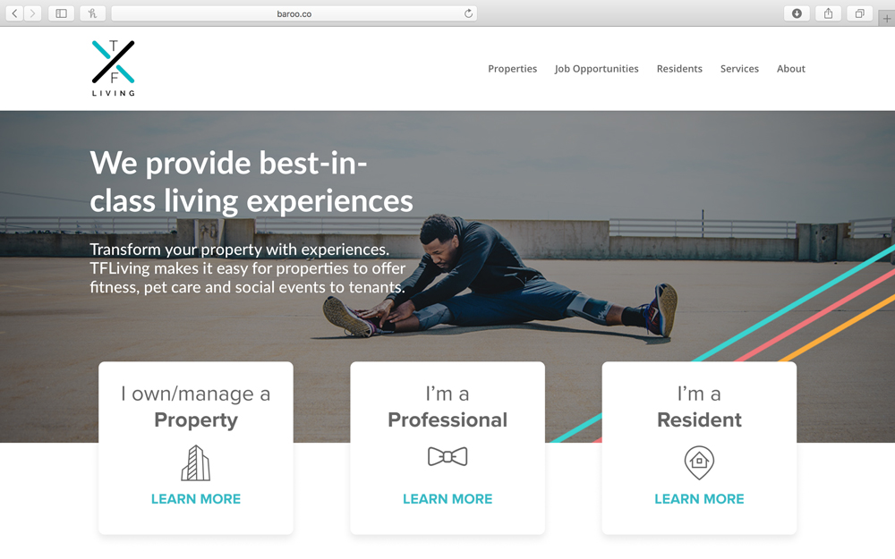 Baroo - TX Living provides pet walking, sitting, and pampering services to multi-family communities creating revenue generating opportunities for building owners, and high-quality pet care to tenants. TX Living pet owners rent larger apartments, stay longer, and are provided full transparency that provides information about their pet's well-being.