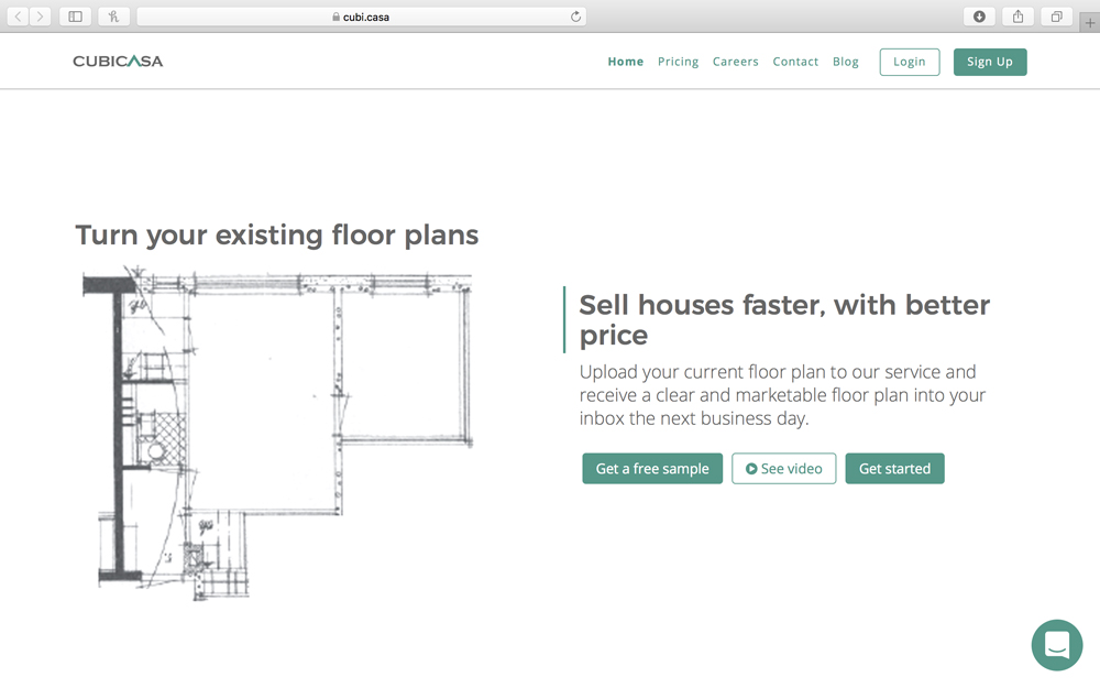 Cubicasa - Floor plans are the 3rd most valuable website feature for prospective homeowners and tenants, however, most online listings do not offer them. Existing floorplans are either not available or stored in disparate formats created from multiple developers, properties and appraisers. Cubicasa floor plans can be generated from any source - pdfs, CAD drawings, or even sketches – and converted into standardized data formats that are indexable, searchable and marketable.