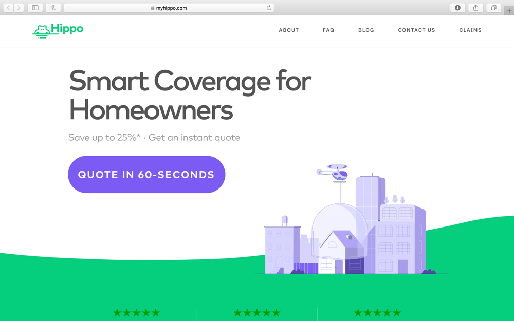hippo - Hippo provides modern day home insurance for today's household. Insurance applications are entirely online and coverage is provided instantly within 3 minutes providing personalized coverage for every unique homeowner's needs.  The process is seamless driving days-to-close down for pending sales.myhippo.com