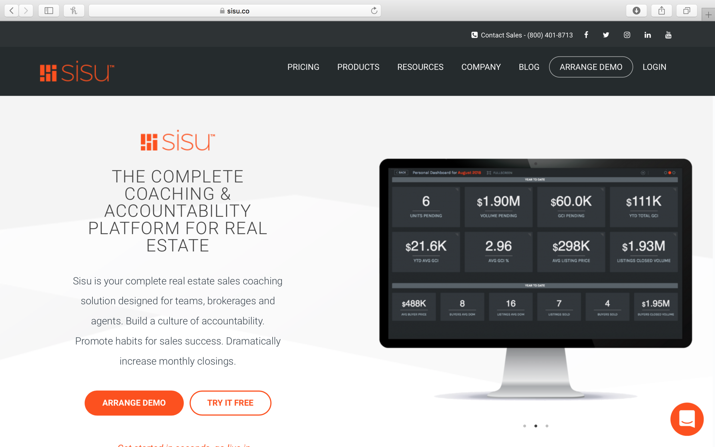 sisu - Sisu's platform helps companies easily visualize their data in order to manage key performance indicators. Companies are able to replace manual spreadsheets and provide dashboards to help manage performance across the organization.