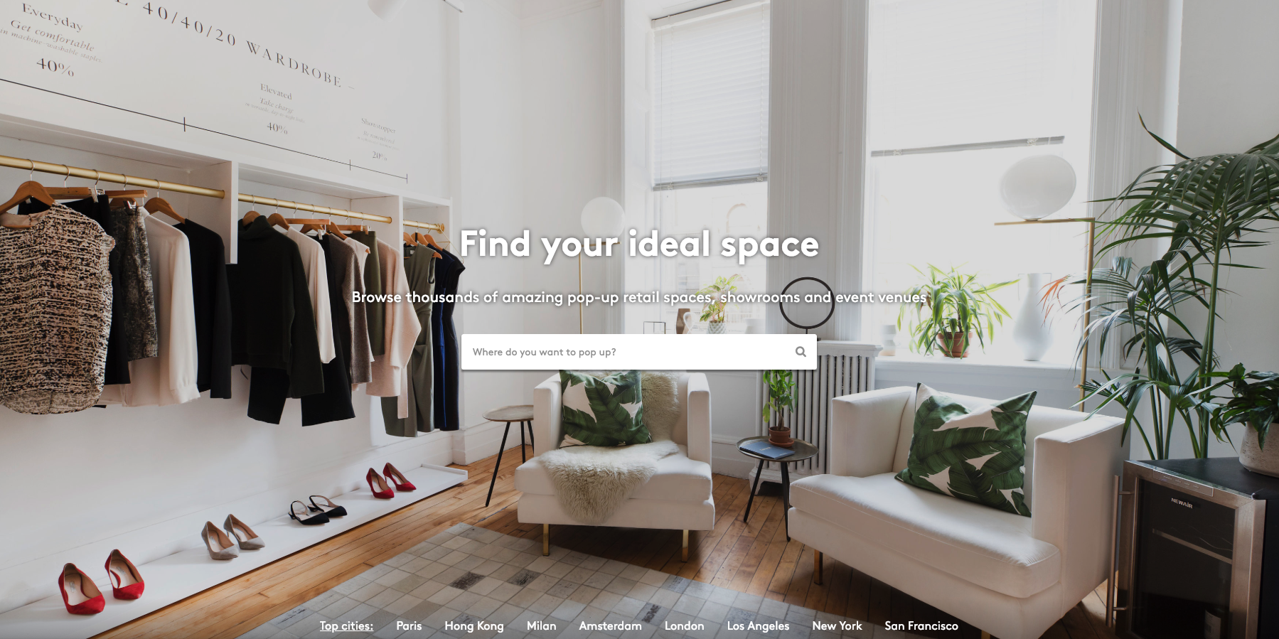 storefront - Storefront's marketplace makes retail locations accessible to any brand in the world by activating property owners retail space with a single click.