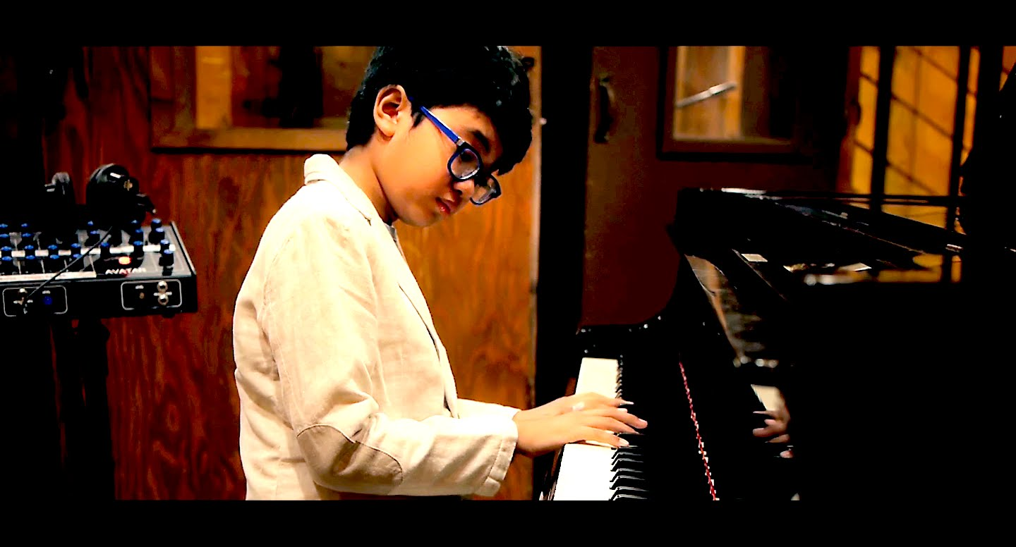 "Joey Alexander recording his debut album ""My Favorite Things"""