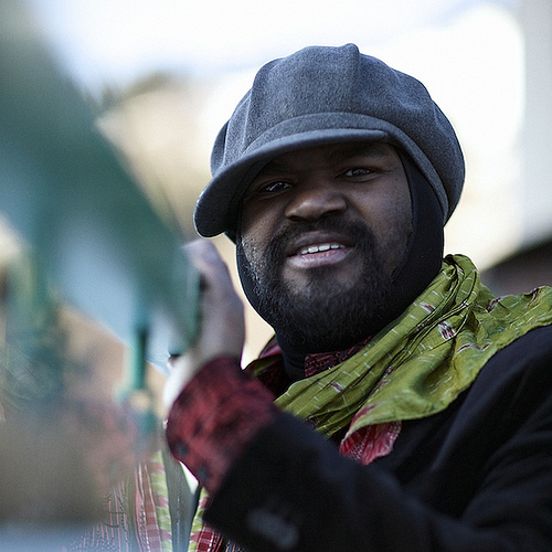 Mr. Gregory Porter in his signature hat