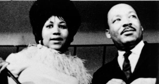 Ms. Aretha and MLK Jr.