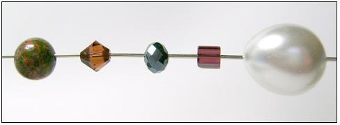 round / bicone / rondelle / cube / pearl