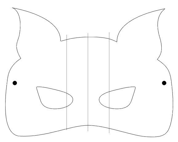 step 1 - Download and print the mask and nose template on card stock. Cut them out with scissors or a craft knife.