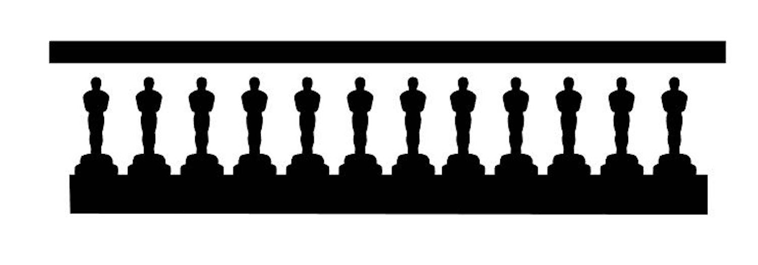 step 3 - Print the Oscar statues template on card stock or bring the template into Silhouette software to create a cut file with your Curio or Cameo machine. Create a stencil by cutting the multiple statue image out with a machine or craft knife.