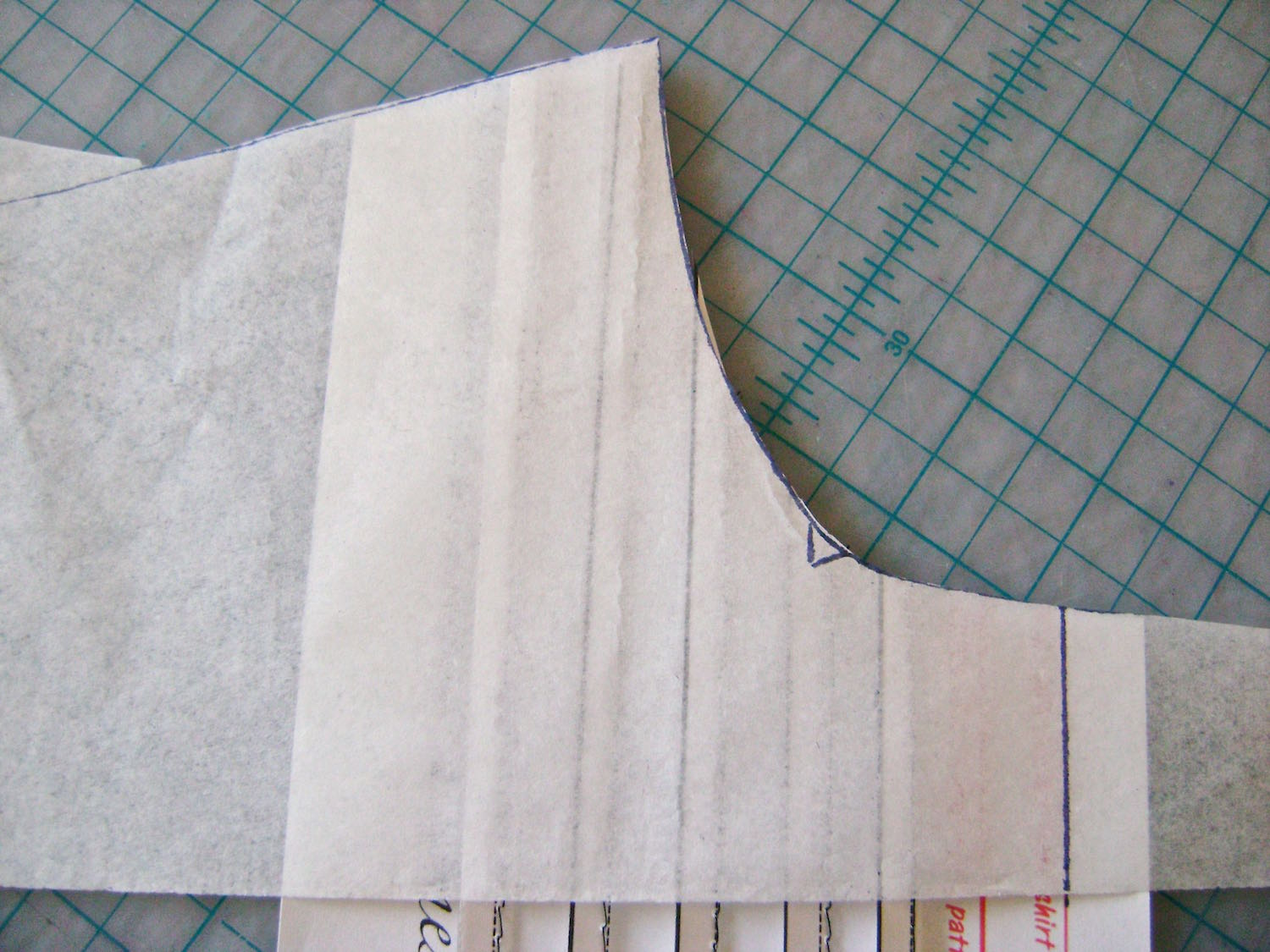 step 6 - Cut the template to match.  Be sure to transfer all markings.