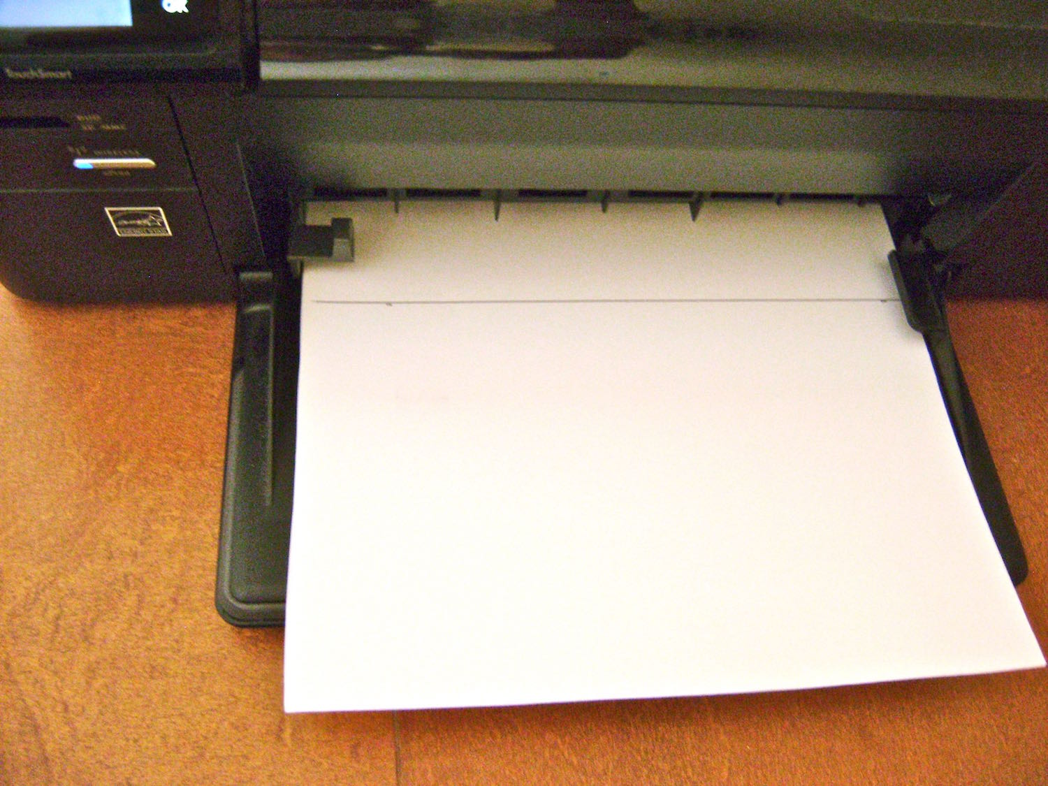 step 8 - Feed the page into the inkjet printer so that it prints on the shiny side.