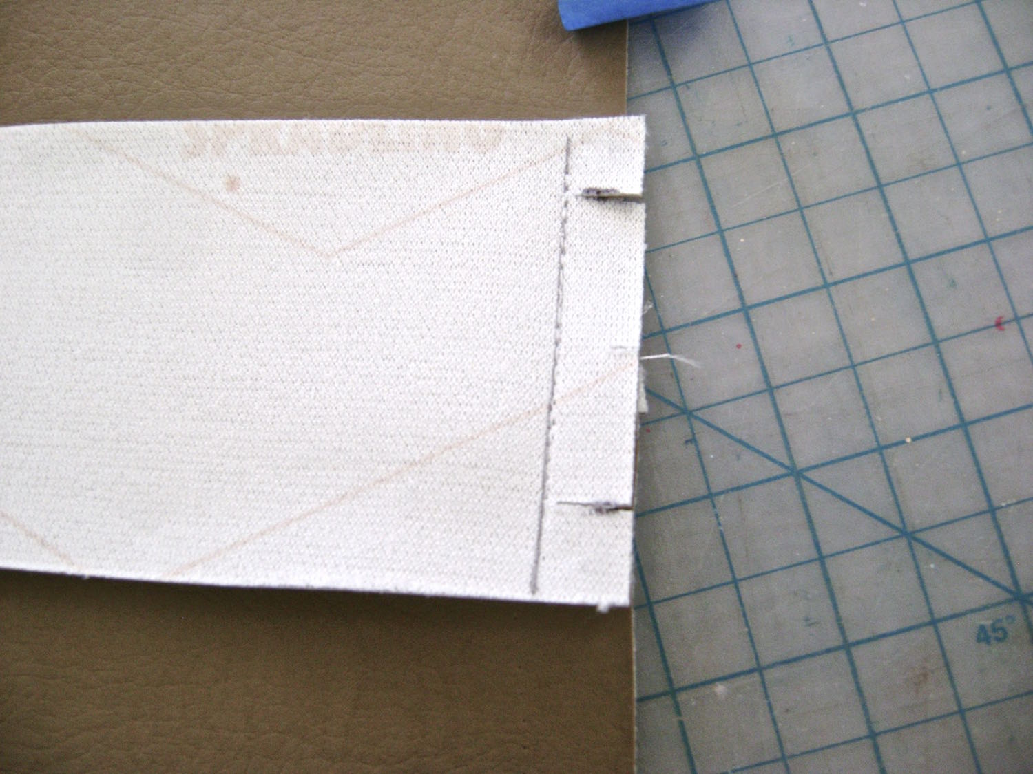 """step 12 - Cut slits 5/8"""" from edges of sides pieces."""