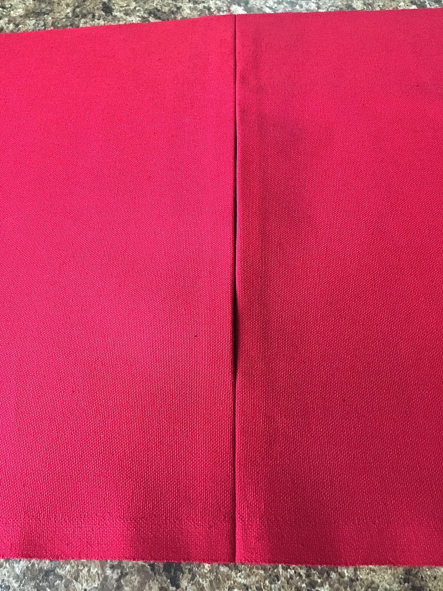 step 10 - Press the seam open. Remove the basting stitch.