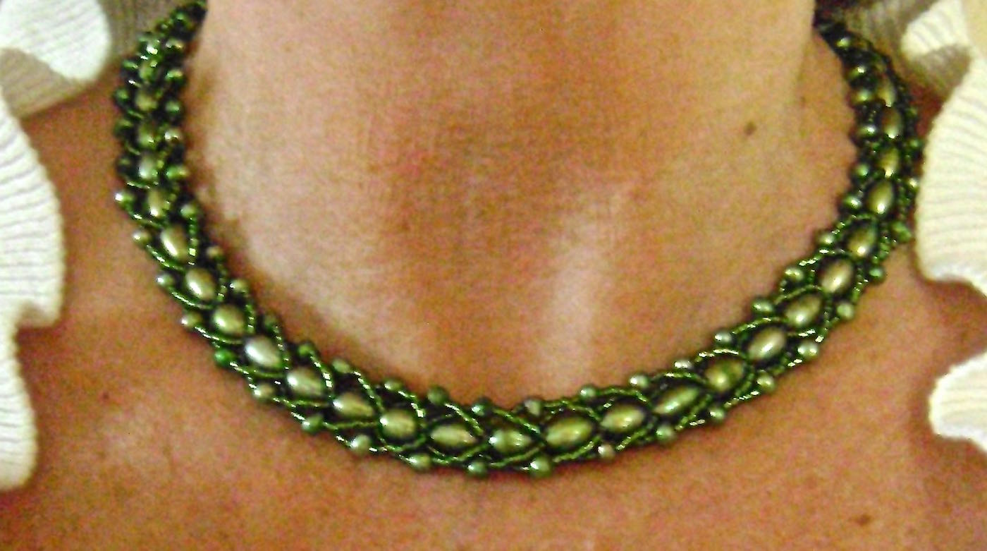 Single strand fresh water pearl necklace