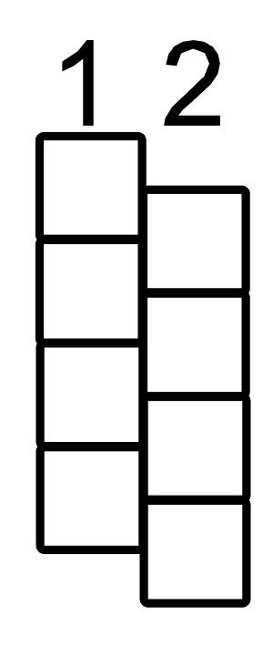 step 4 - Select the entire column and copy and paste it on the page. Align column two against the right side of column one. The top bead of column two should be placed halfway down the first bead in column one. Group the two columns. Copy and paste.