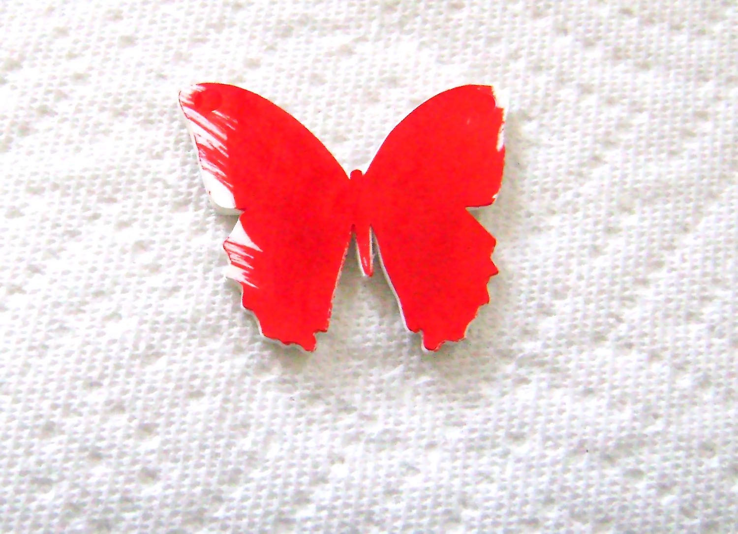 step 5 - Paint the reverse side of the butterfly using the red paint marker.