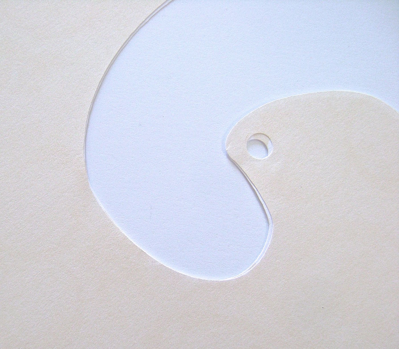 step 4 - Use a paper punch to create a hole through both layers at once.