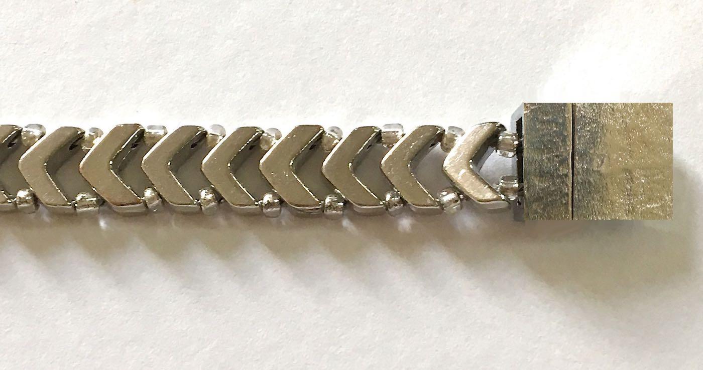 "bracelet measures 3/8"" wide"