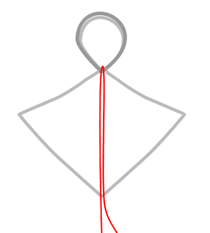 """step 5 -   Snip away the tails. Cut a piece of 24 gauge wire to measure 15"""". Place the center of the wire over the spot where the two 18 gauge wires meet."""