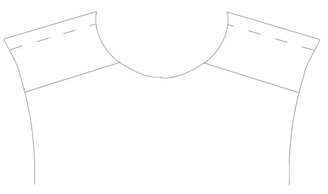 step 1 - Planning the Design  - Create a full size back pattern piece on your computer screen by scanning the actual paper pattern and importing it into a graphics program. I use Silhouette design software, which allows me to create any size page.