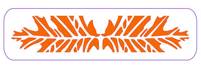 step 1  - CK  - Download and print out the template for the bracelet onto card stock. Cut out the design with a craft knife to create a stencil.  SC  - Download the cut files and open the document in your Silhouette software. You'll find instructions in the Download PDF.