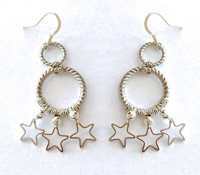 "earrings measure 2"" long"