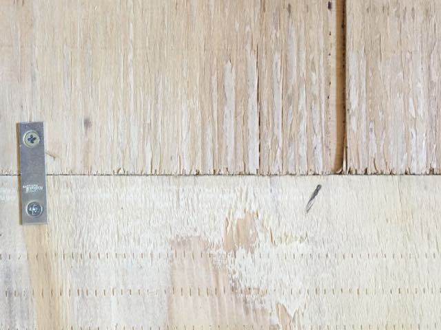 step 4 - The braces will join the two sheets of plywood securely and allow you to move them as you work. When moving the plywood, be sure to lift both sides at the same time.