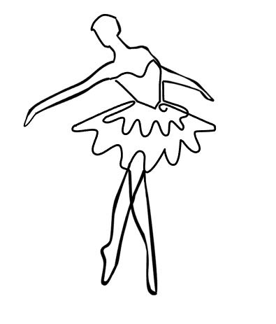 "step 1 - Print out the small ballerina image included with the pdf file or download the SVG file. I made my ballerina to wear as a pendant so it is only 2.50"". You can make yours any size you like. You will use the printed image as a pattern while working with the wire."