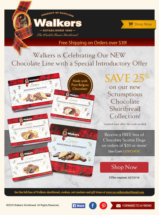 Walkers Email Design