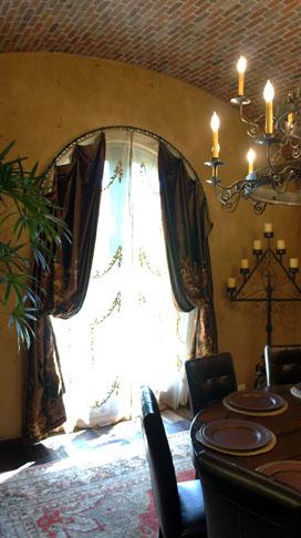 Arched Window Treatments, Custom Drapes