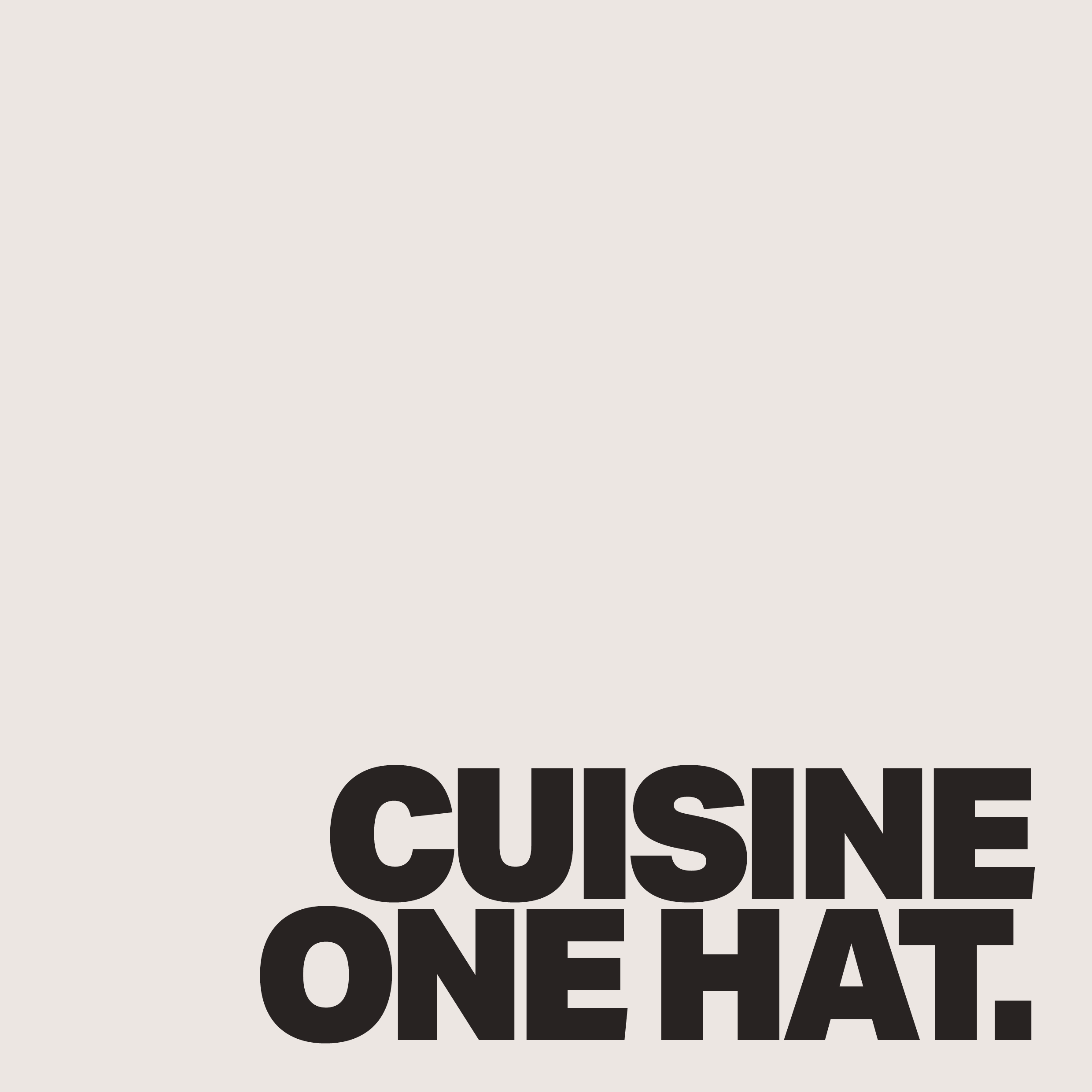 Awarded Cuisine One Hat