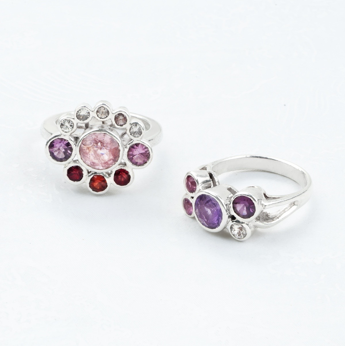 Sapphire and Coloured Spinel Rings