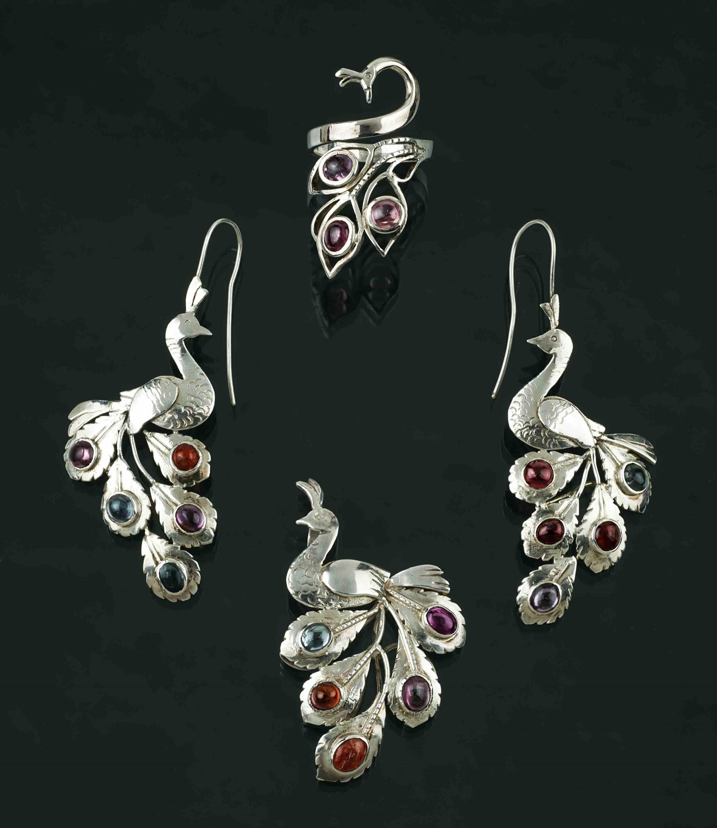 Mia Ruby Peacock jewellery