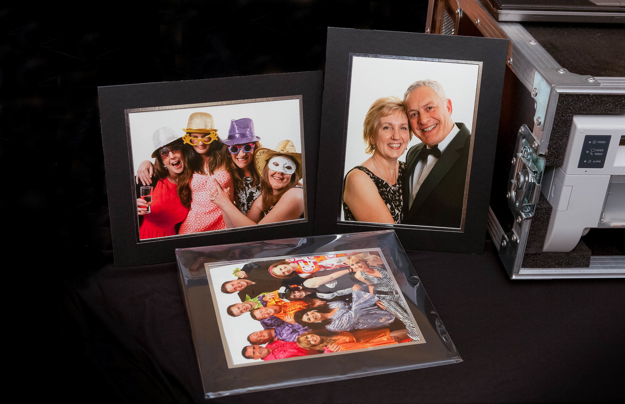 On Site Printing Event Photographer | Black Tie Portraits