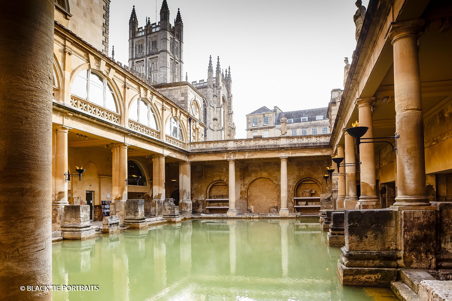 Roman Baths Photographer | Black Tie Portraits