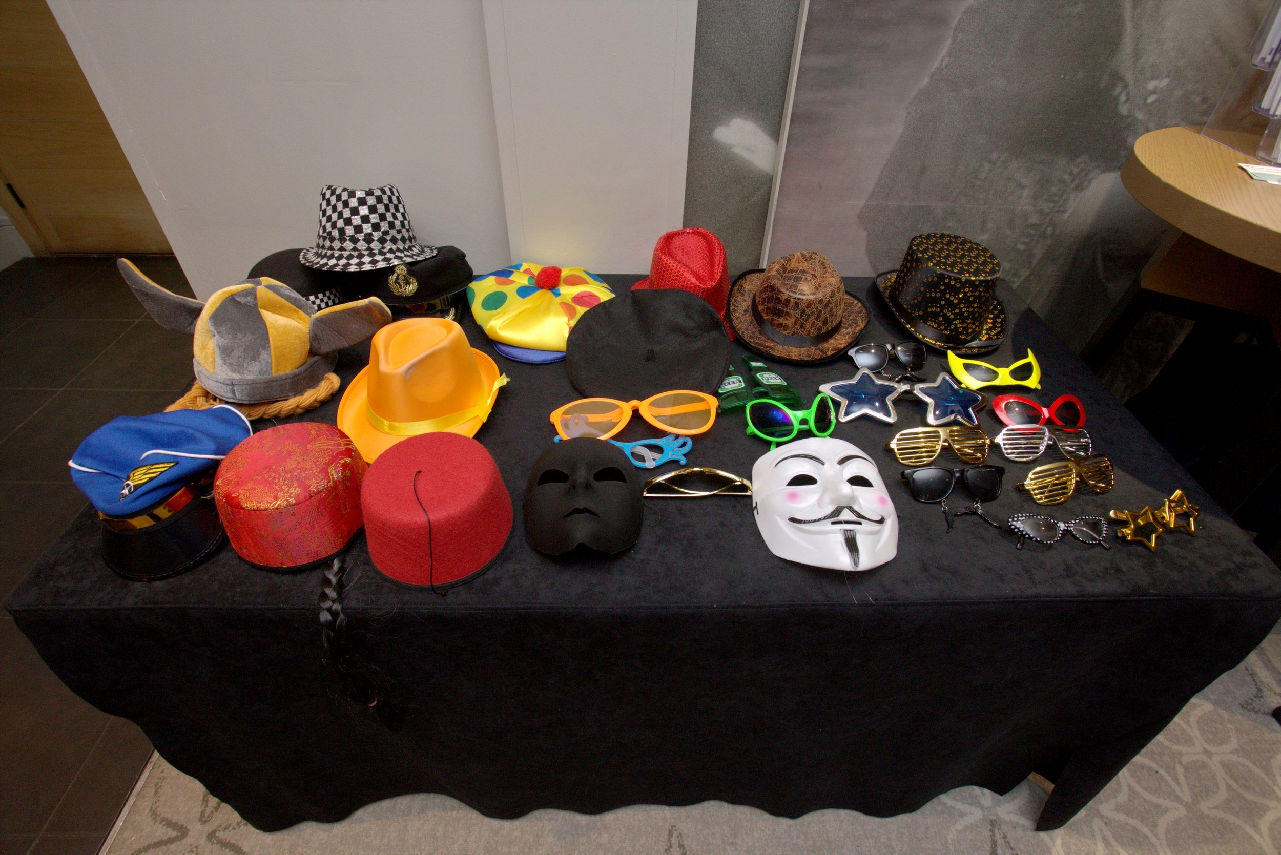 A small selection of props from a large range available