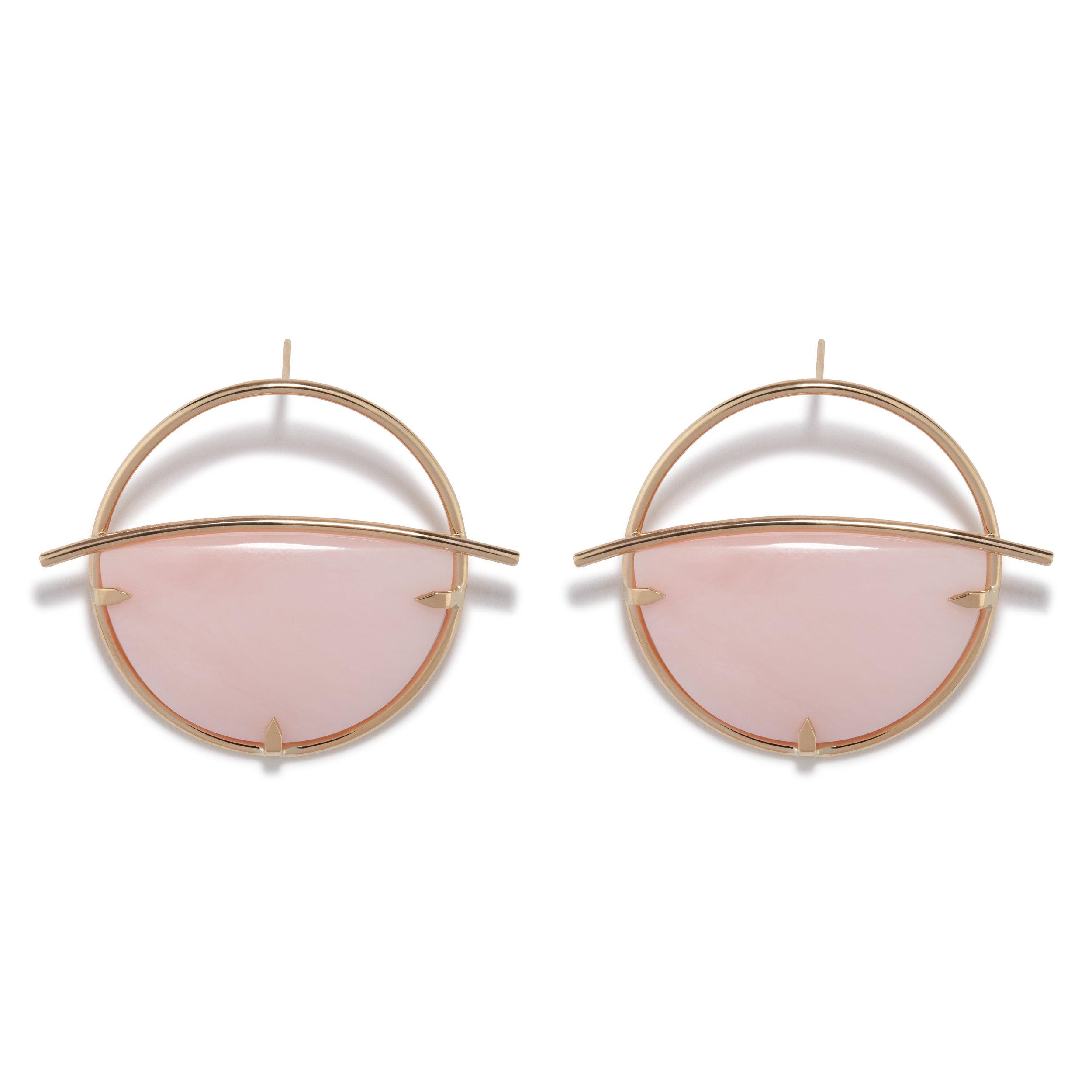 Circe Earrings - Pink Opal