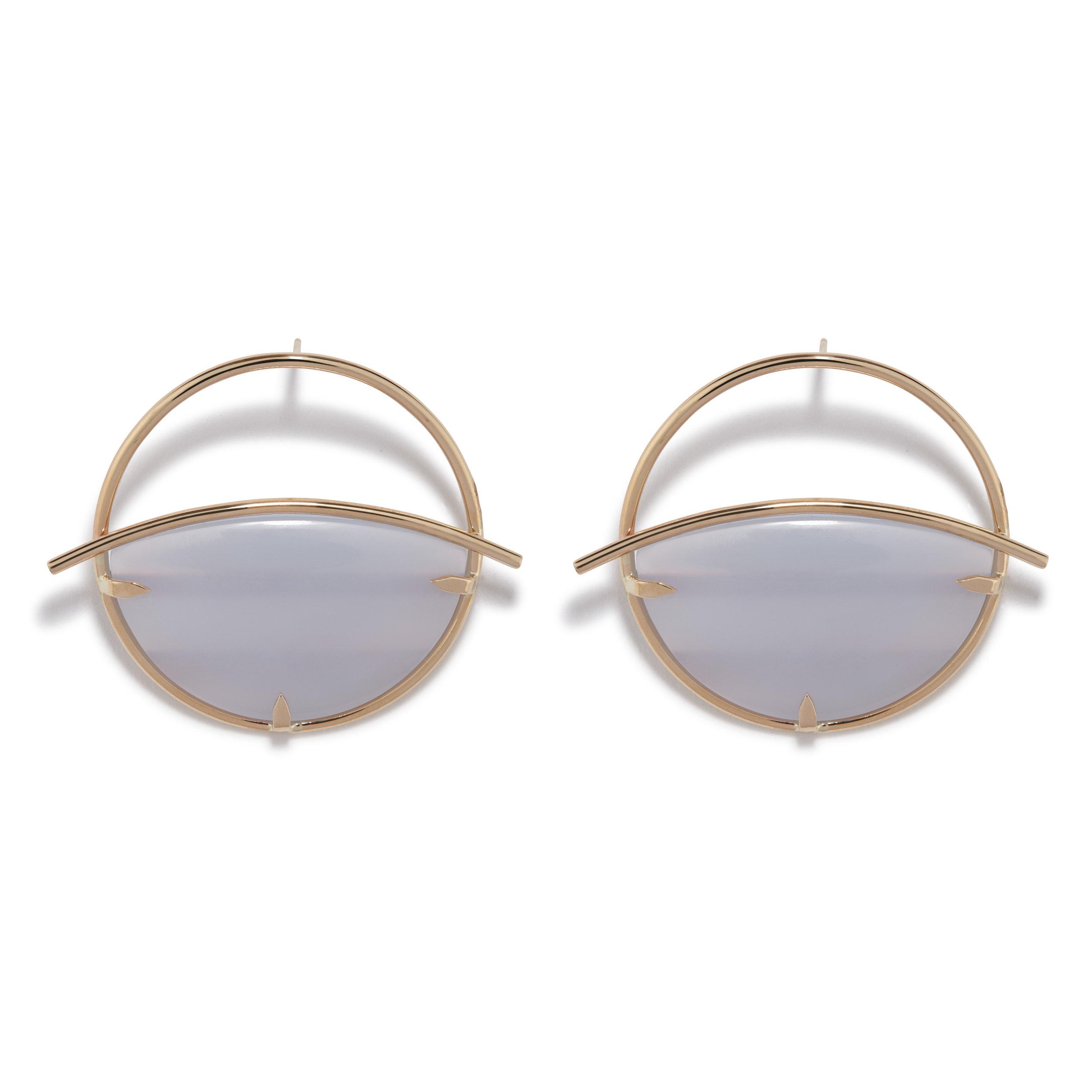 Circe Earrings - Blue Chalcedony