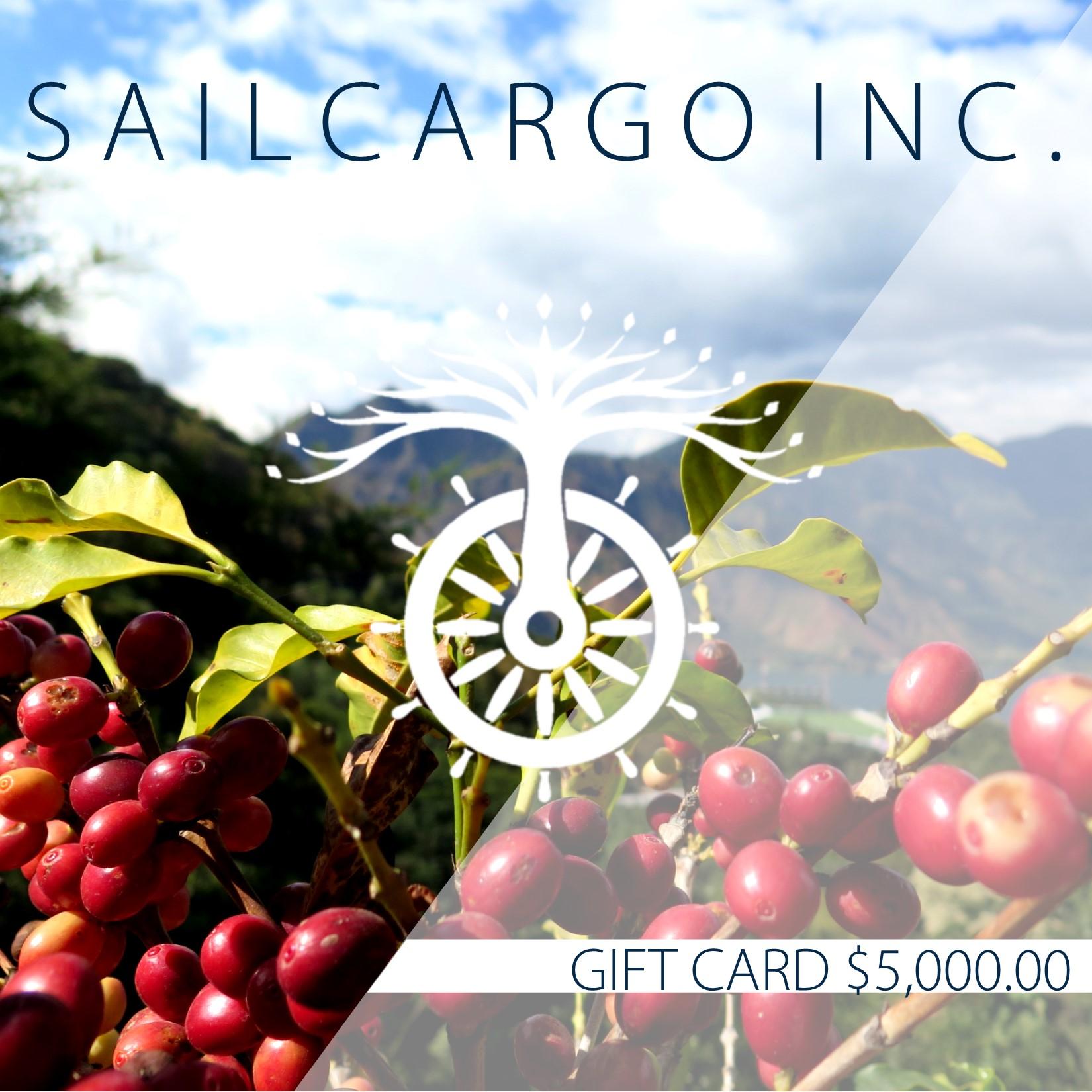 Coffee Bean $5,000.00 Gift Card