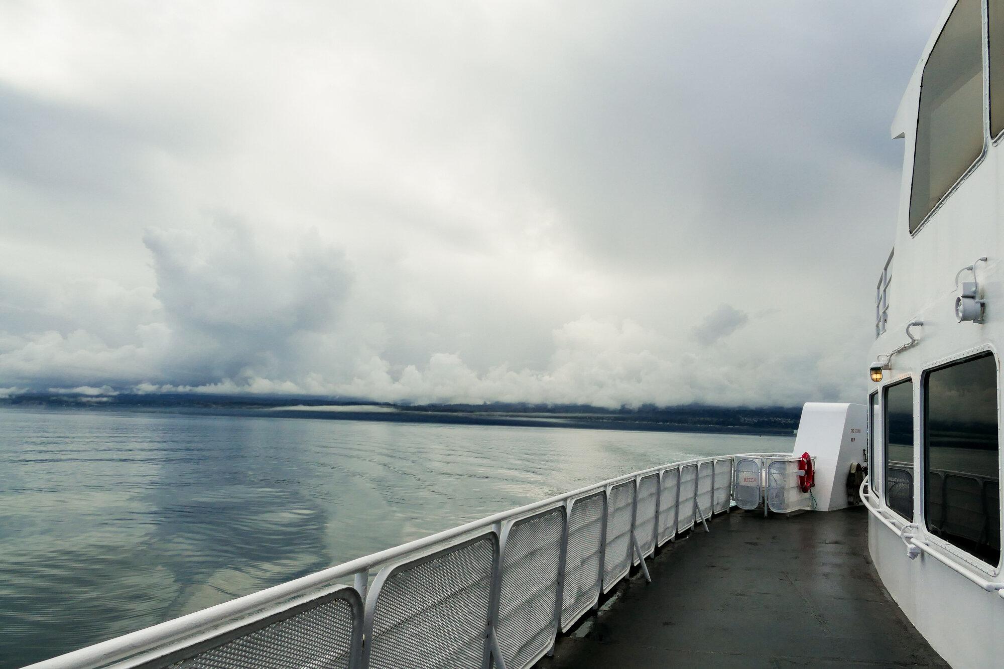 On the ferry headed toward Haida Gwaii.