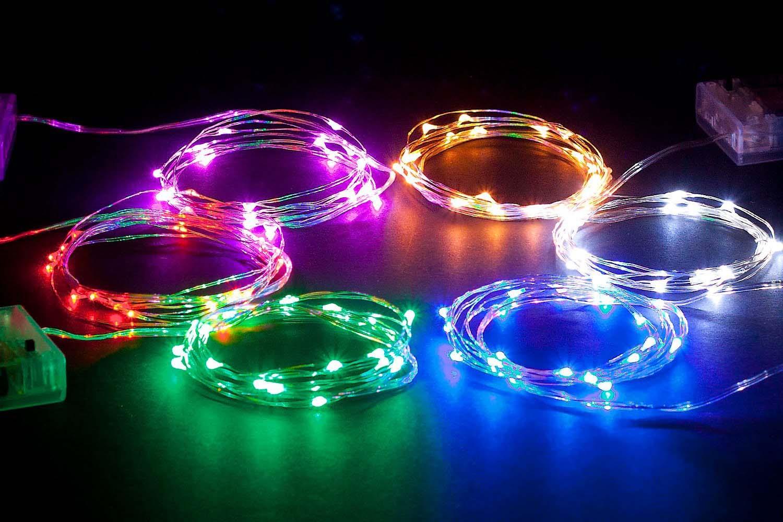 LED XMas Lights - 3 pack, 6.5 feet - 4.5 stars - $10 (Prime)