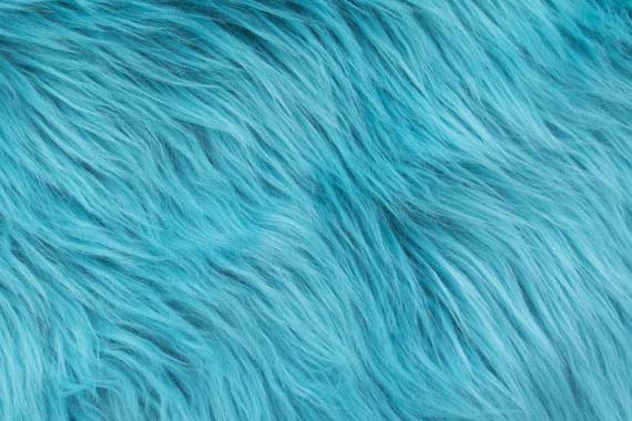 Faux Fur - 1 inch pile, Turquoise - 4.5 stars - $27/yard