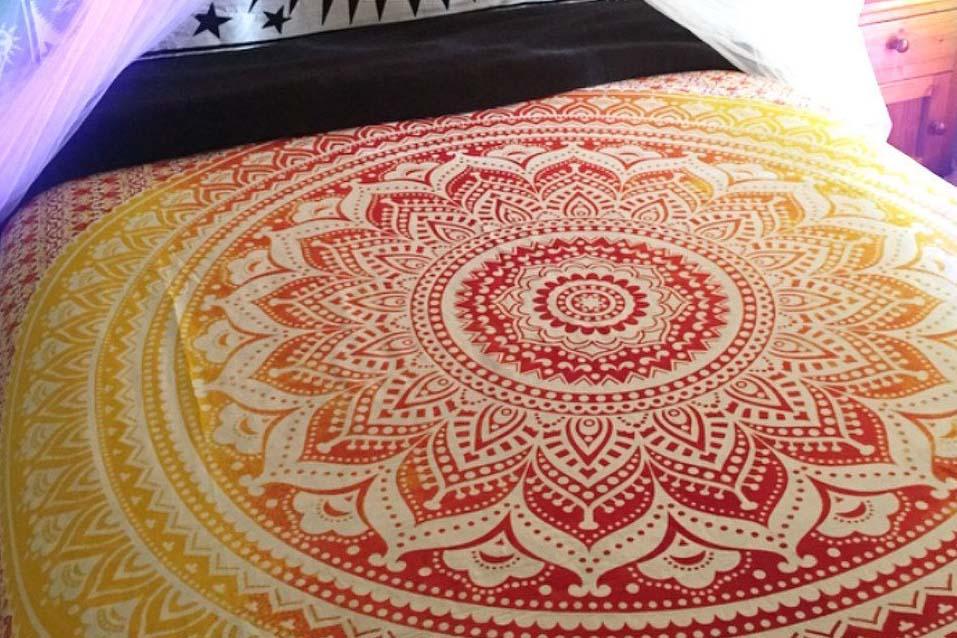 """XL Mandela Sun Tapestry -    90 x 90"""" 4.5 stars - $11 (Prime)"""