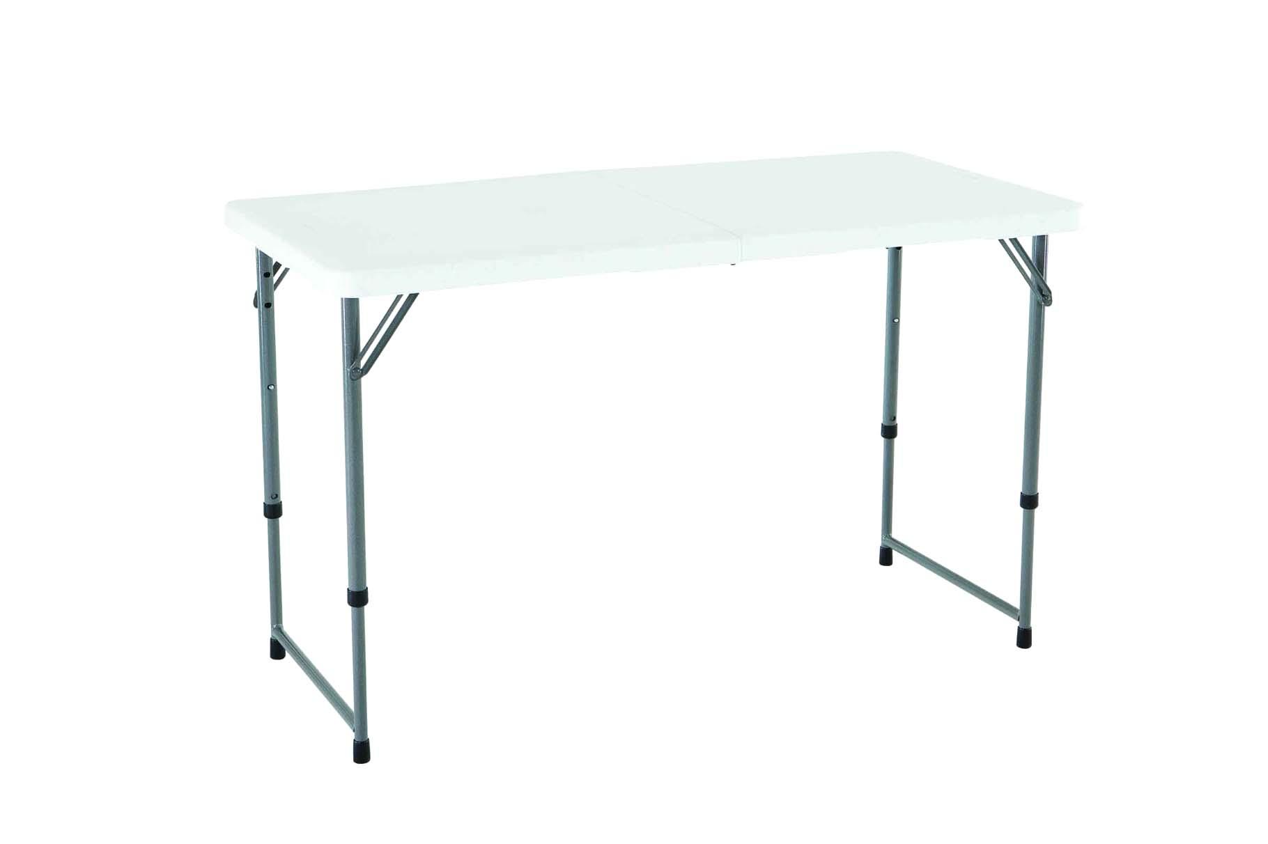 Folding Table 4 Ft - Adjustable Height - 4.5 stars - $29 (Prime)