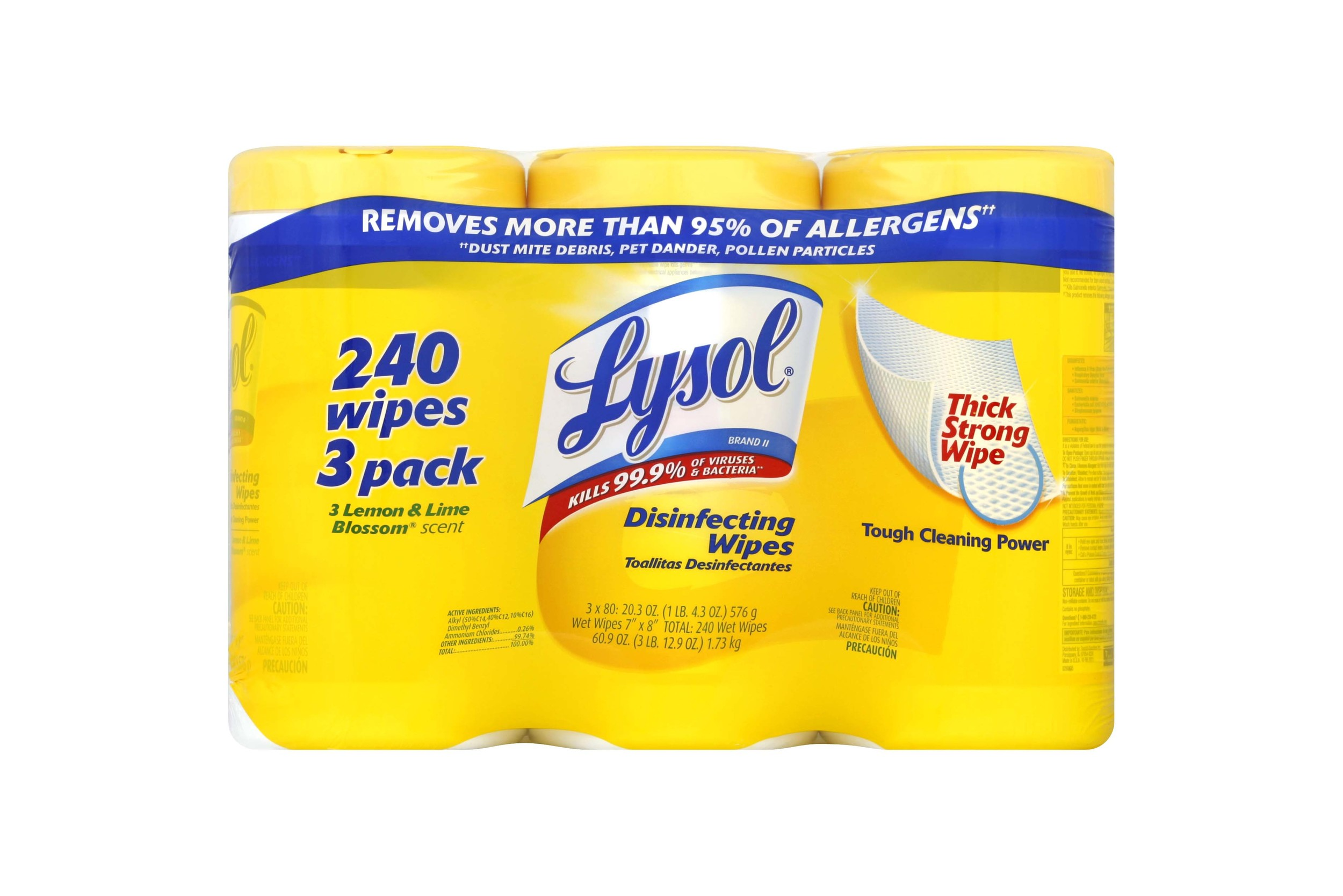 Disinfecting Wipes (3 pack) - 4.5 stars - $13 (Prime)