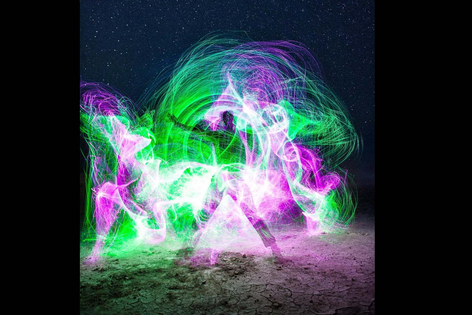 Fiber Optic Whip with 27 Color Effects- 4.5 stars, $110