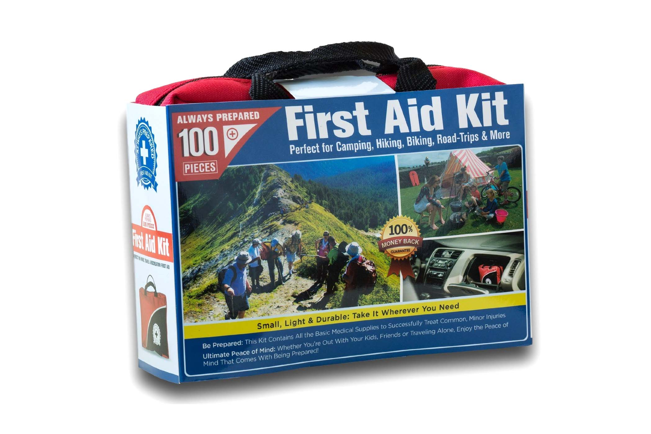 First Aide Kit - 100 pieces - 4.5 stars - $25 (Prime)