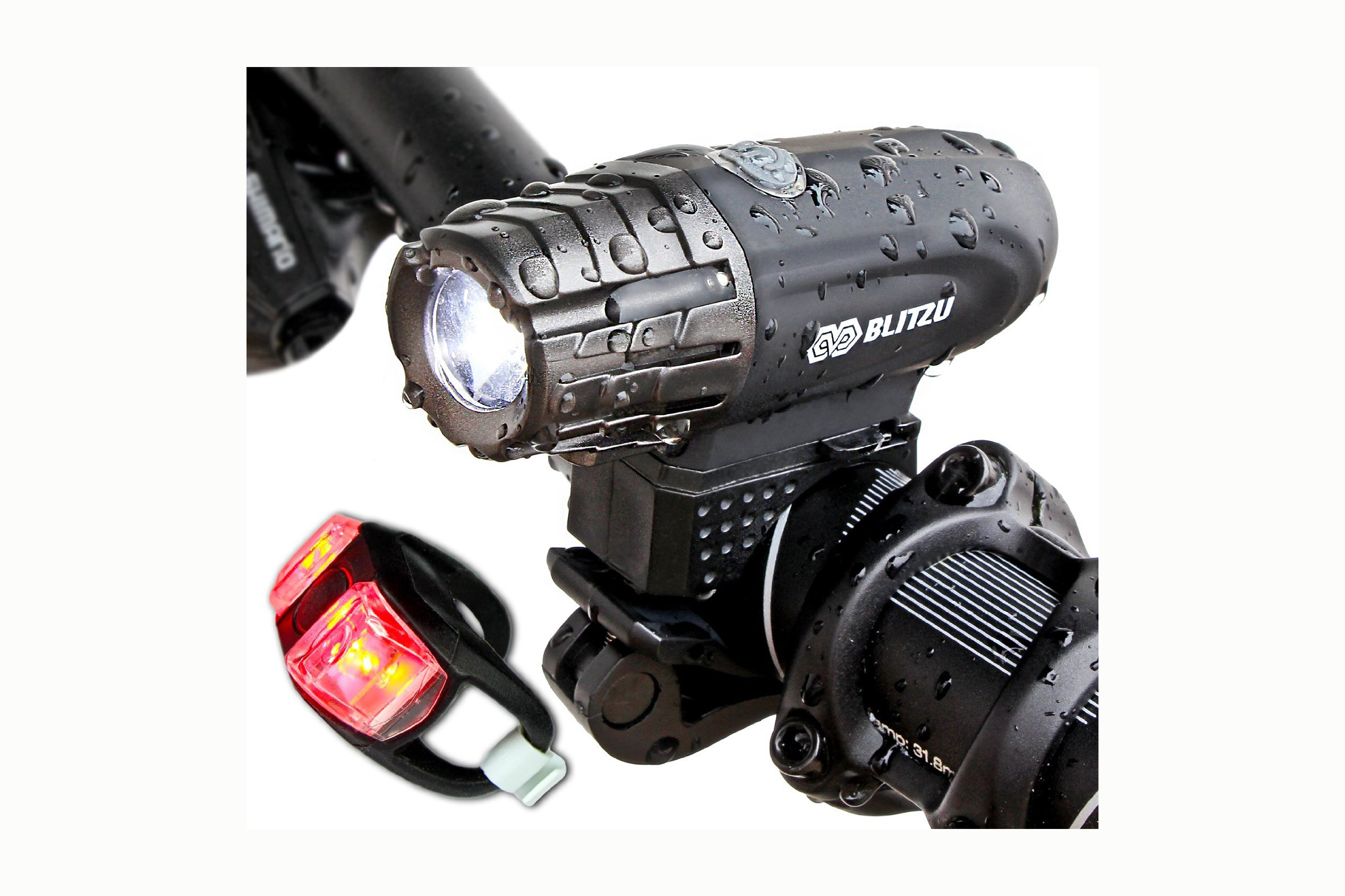 320 Lumens,USB Rechargeable, + Taillight - 4.5 stars - $25 (Prime)