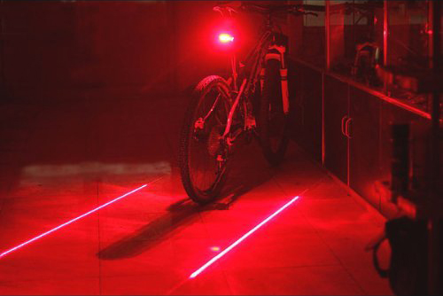 Tail Light with 2 Lasers + 5 LEDs - 3.5 stars - $7